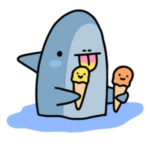 <strong>新<br>サメちゃん</strong>