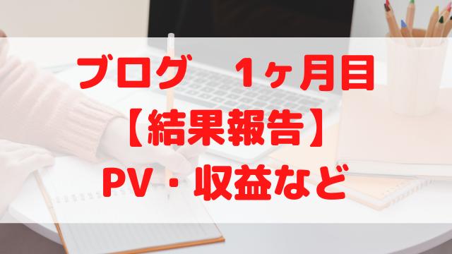 【ブログ結果報告】始めて1ヶ月目のアクセス数(PV)・収益など